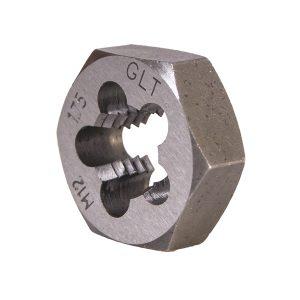 """Dados Milimétricos para Roscar 1"""" Hexagonal Sólido para Roscado Exterior."""